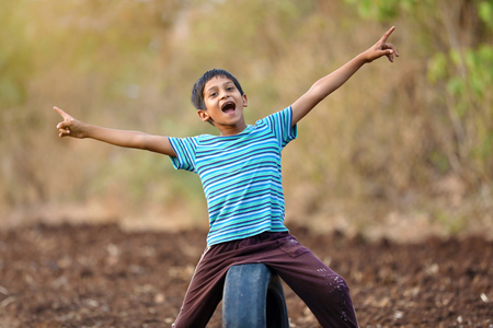Rural indian child Stock Photo