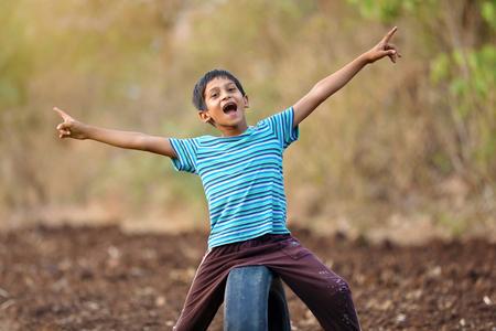 Rural indian child Stock fotó