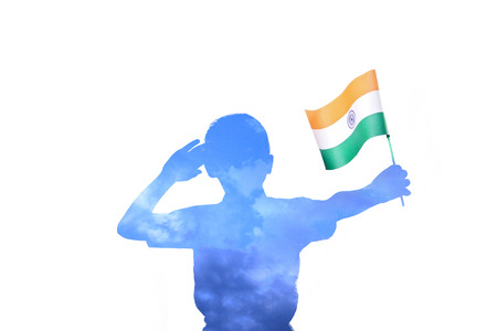 Indian Flag in hand