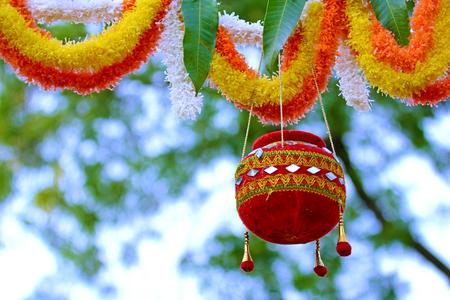 photograph of  dahi handi on gokulashtami festival in india , which is  Lord Shri Krishnas birth day
