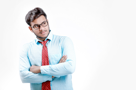 Young indian male model on shirt and tie Imagens