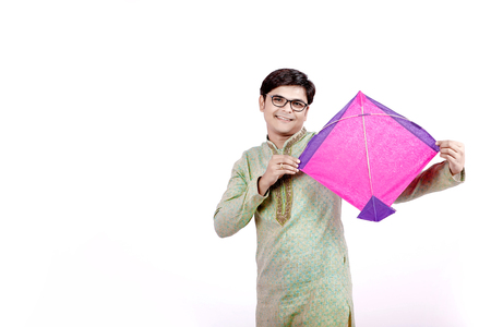 young indian man with kite