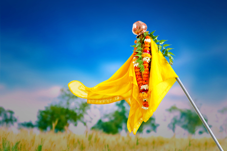 Gudi Padwa Marathi New Year Stock Photo - 124684214