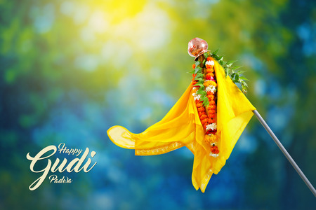 Gudi Padwa Marathi New Year Stock Photo - 124684775
