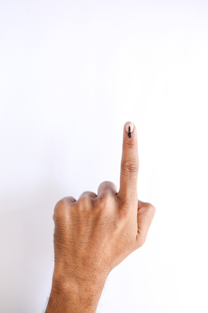 Indian Voter Hand with voting sign