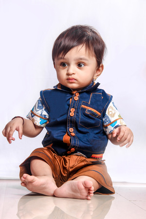 Cute Indian Baby boy smiling