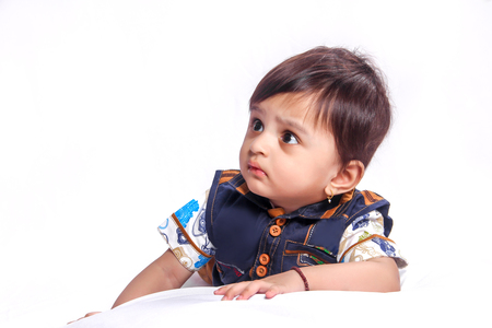 Cute Indian Baby boy smiling Stock Photo - 124686232