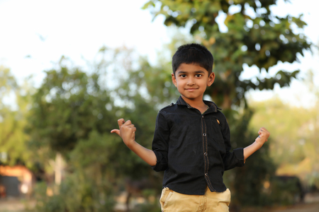 Cute Indian child with multiple expression