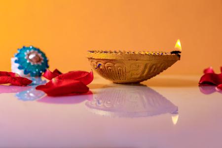Indian Festival Diwali , Diwali Lamp Stock fotó