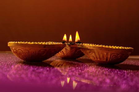 Indian Festival Diwali , Diwali Lamp Stock Photo