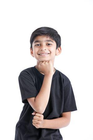 Joyful Indian Little boy Stock Photo