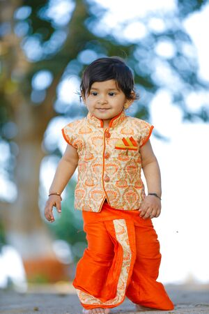 Indian child on traditional Wear Stock Photo