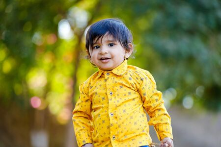 Cute Indian  Baby boy Stock Photo - 124974876