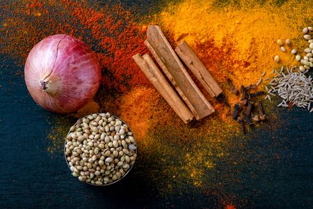 all indian spice , cooking background. 写真素材