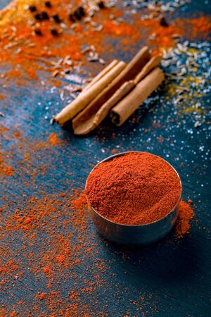 all indian spice , cooking background. Stok Fotoğraf