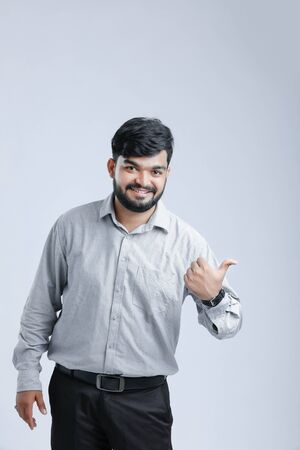 young Indian man giving multiple expression