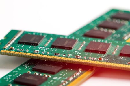 Ddr ram memory isolated on white background 스톡 콘텐츠 - 129412808