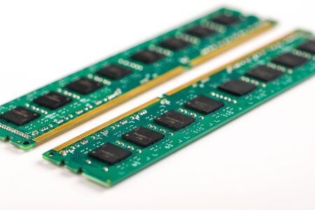 Ddr ram memory isolated on white background 스톡 콘텐츠 - 129414023