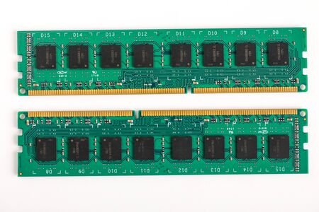 Ddr ram memory isolated on white background