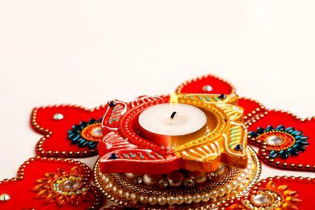 Indian Festival Diwali , Diwali oil Lamp Stock Photo