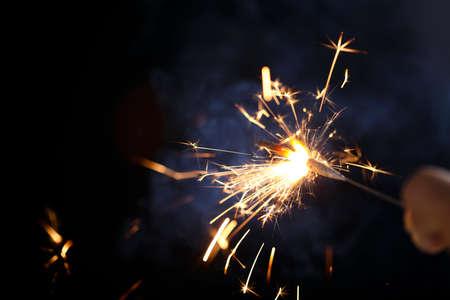 The burning sparklers diwali festival. Celebrating Diwali in india.