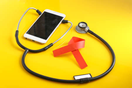 Smartphone and stethoscope