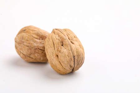Walnut isolated on a white Stockfoto