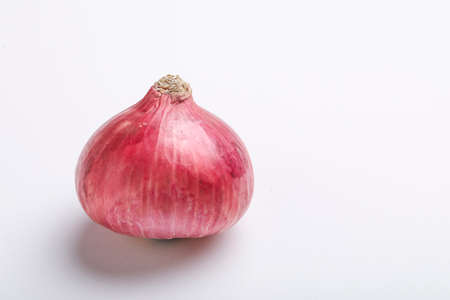Red onion on white
