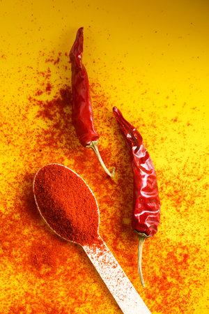 Spices ingredient chili powder and turmeric powder Stockfoto