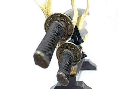 wakizashi: Japanese swords Stock Photo