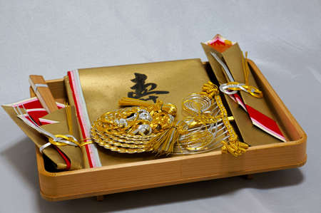 betrothal: Betrothal mizuhiki Stock Photo