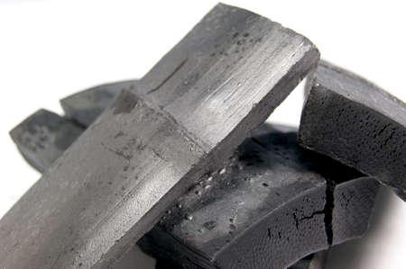 竹炭 写真素材