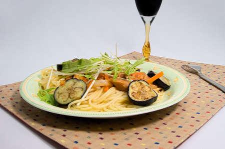 potherb: Eggplant tomato sauce pasta