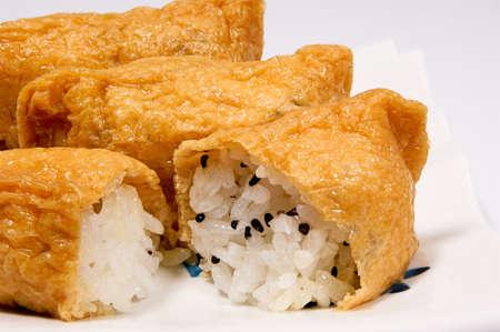 Sweet fried homemade sushi Standard-Bild