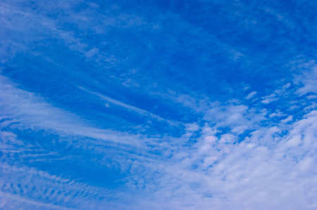 lingering: Fall streaks clouds and clouds of scales Stock Photo