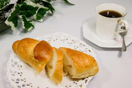 カボチャ バター塩パン 写真素材
