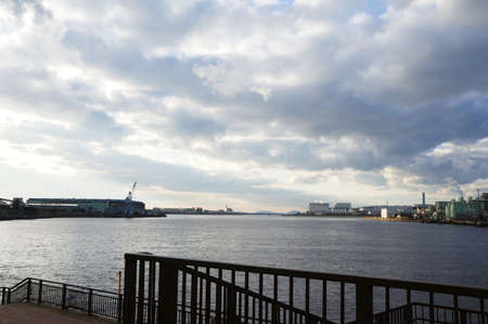 pus: Veduta del porto di Osaka Sakai Archivio Fotografico