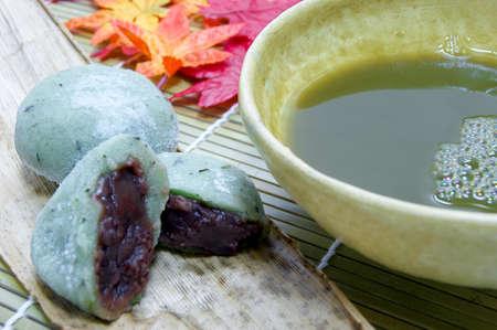 deficits: Yomogi Daifukus red bean and green tea