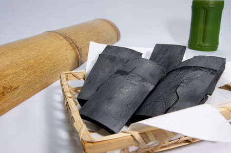 phlegm: Bamboo and bamboo charcoal Stock Photo