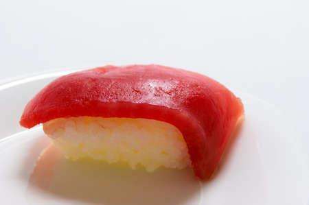 grasp: Consistently tuna nigiri Stock Photo