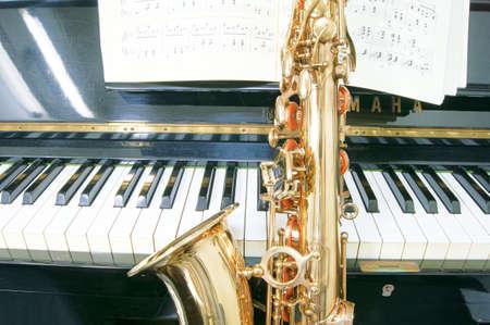 Altsaxofoon en piano