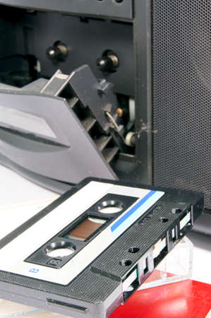 dubbing: Cassette tape Stock Photo
