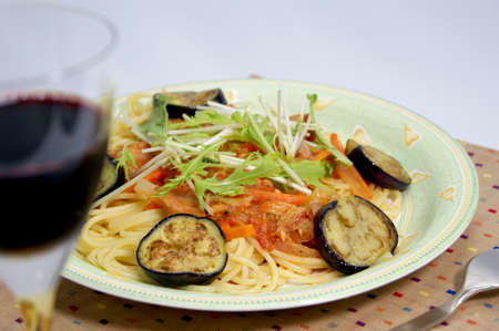 potherb: Tomato pasta with summer vegetables
