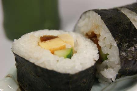 dried gourd: Fried egg, cucumber, kanpyo Maki-zushi