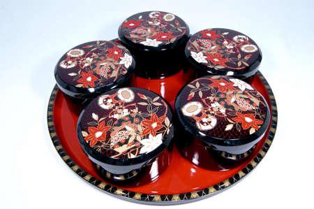 lacquerware: Japans traditional lacquerware Stock Photo