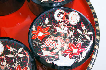 lacquer ware: Japans traditional lacquerware Stock Photo