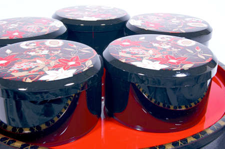 lacquerware: Japans traditional lacquerware Stock Photo