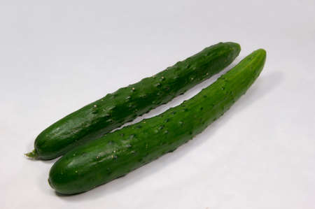 cucumbers: Two Cucumbers Stock Photo