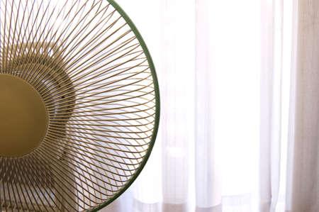 window treatments: Summer image window fan