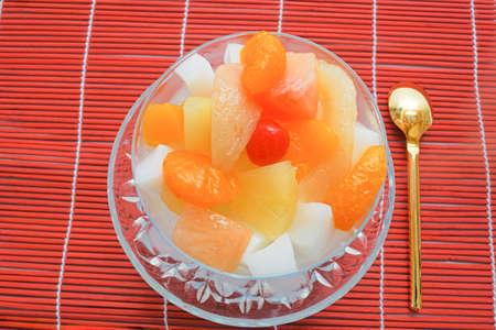 apricot kernel: almond jelly Stock Photo